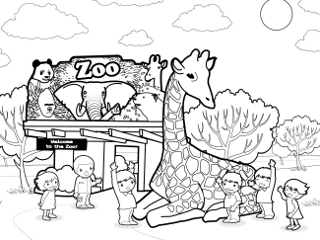 zoo coloring page to print,printable,coloring pages