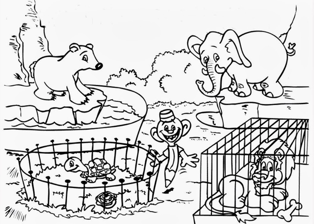 Colouring Zoo Animals : 14 zoo coloring pages zoo animals printable pictures Print Color Craft