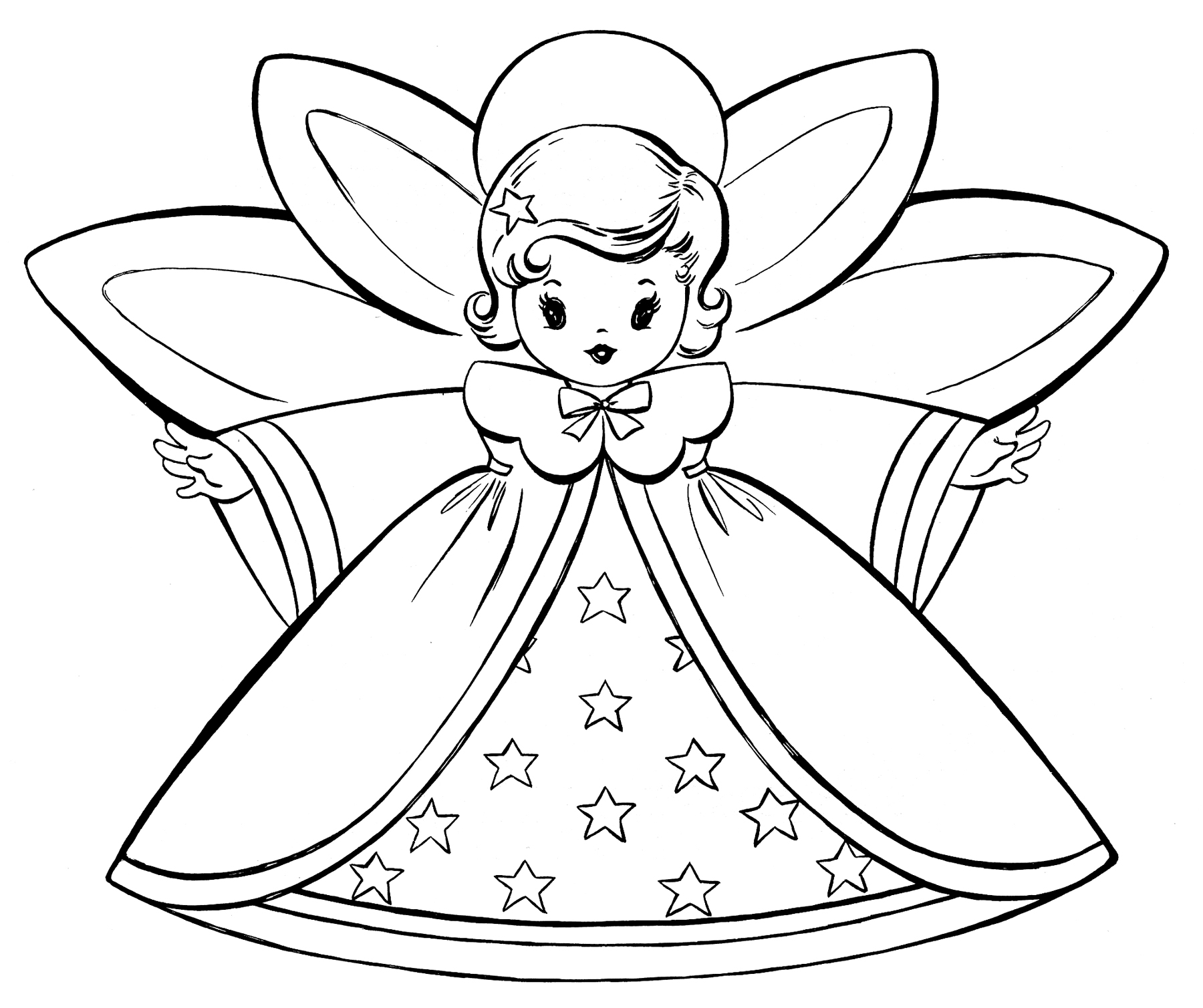 angel coloring page,printable,coloring pages