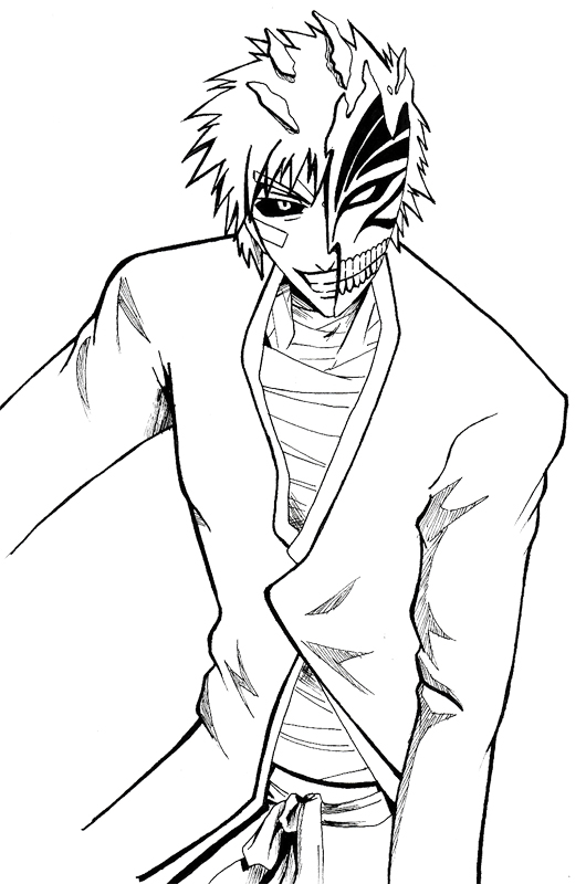 Bleach Ichigo Hollow Coloring Page
