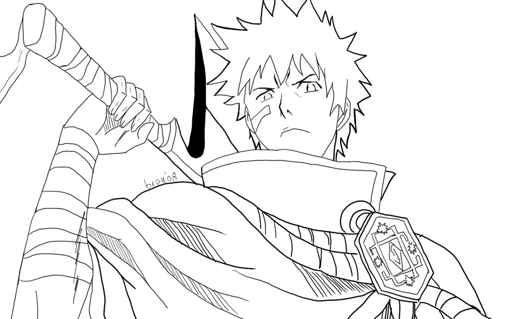 coloring pages of bleach,printable,coloring pages