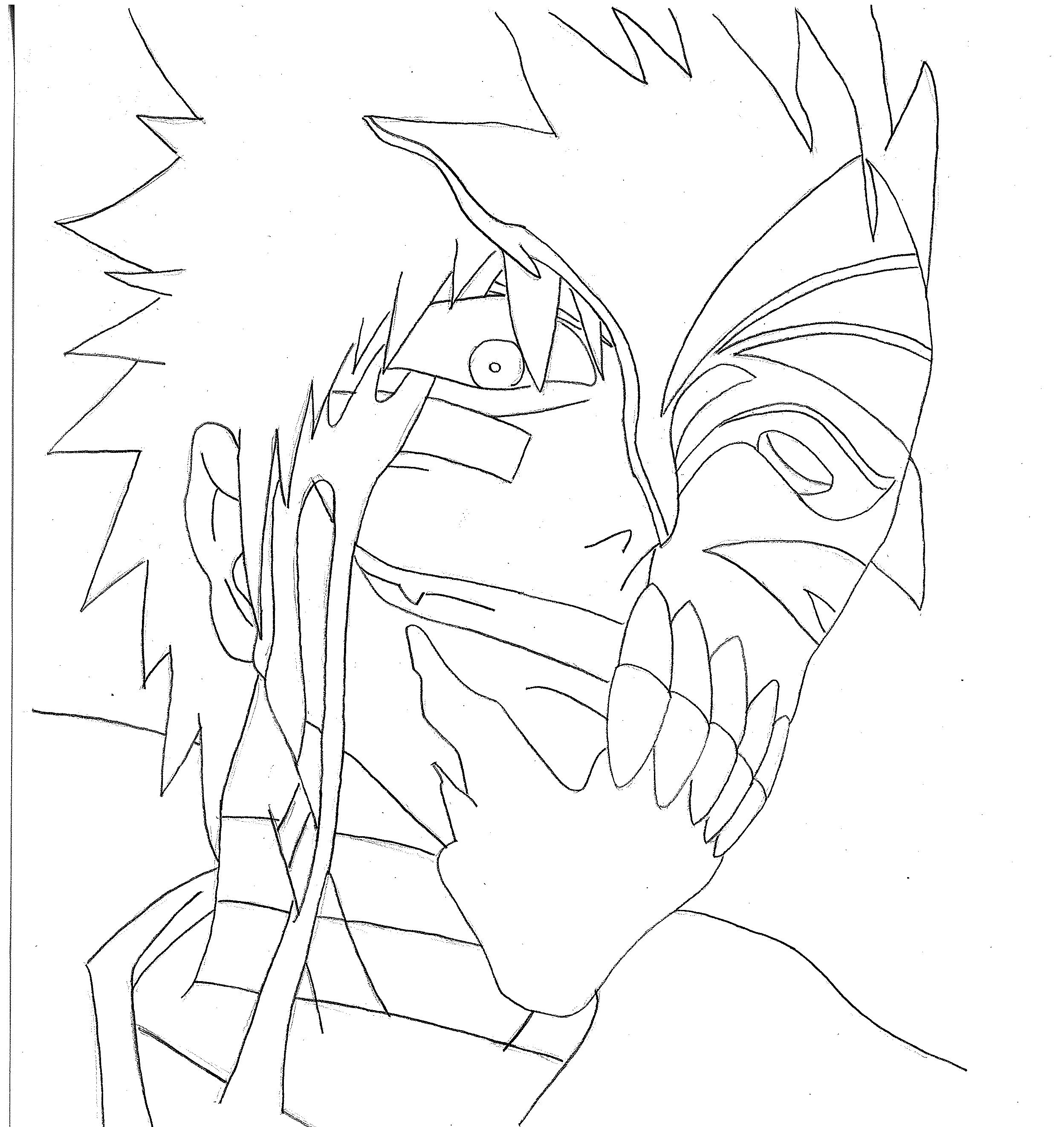 15 coloring pages of bleach Print