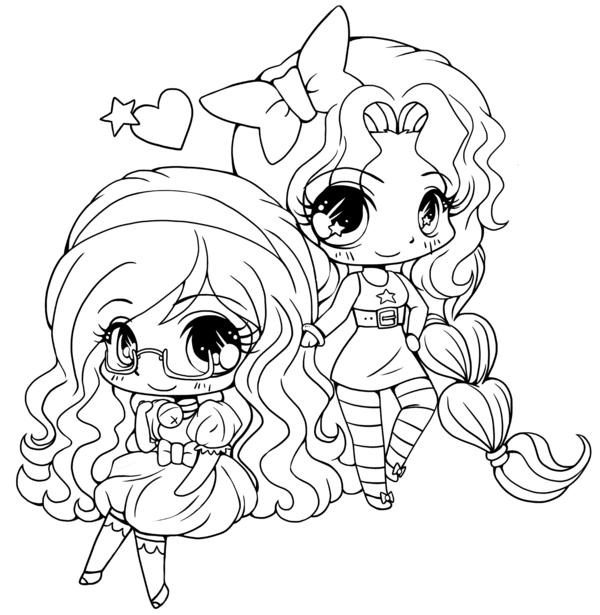 15 cute chibi coloring pages printable - Print Color Craft ...