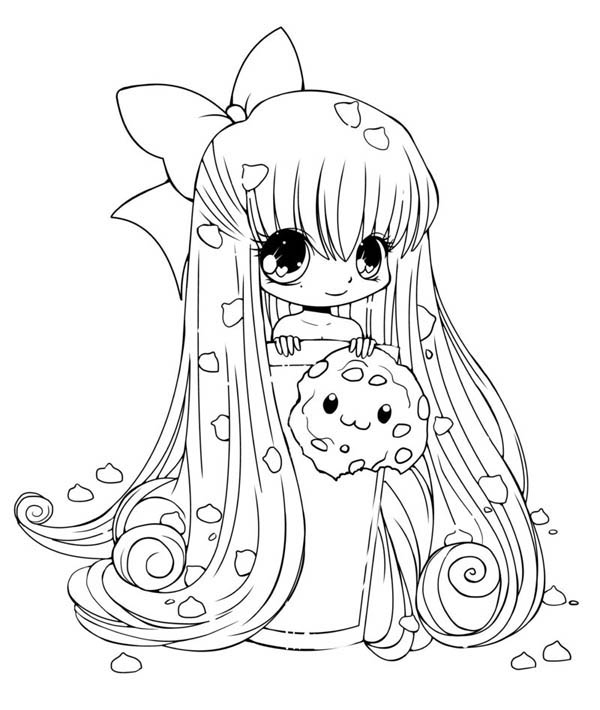 cute anime coloring pages - photo#20