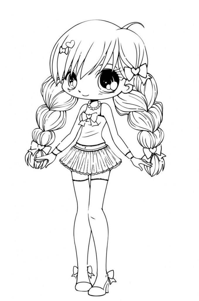 15 cute chibi coloring pages printable - Print Color Craft