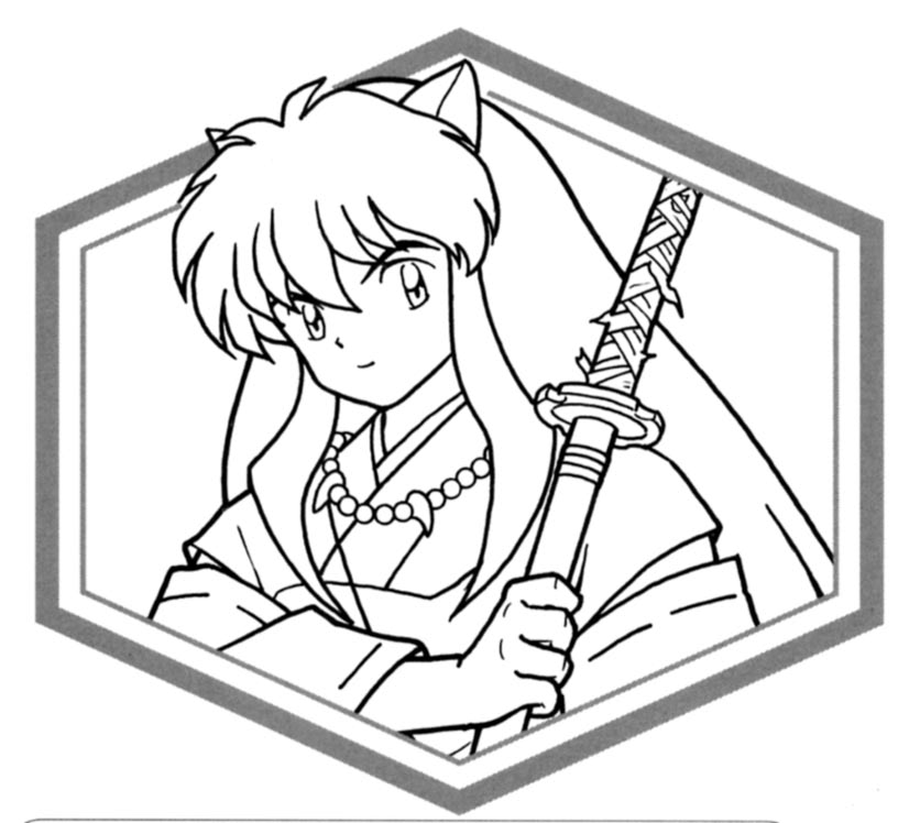 inuyasha coloring page,printable,coloring pages