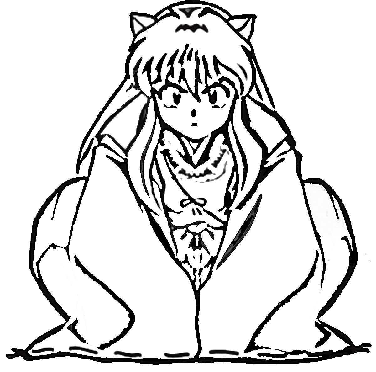 inuyasha coloring page to print,printable,coloring pages