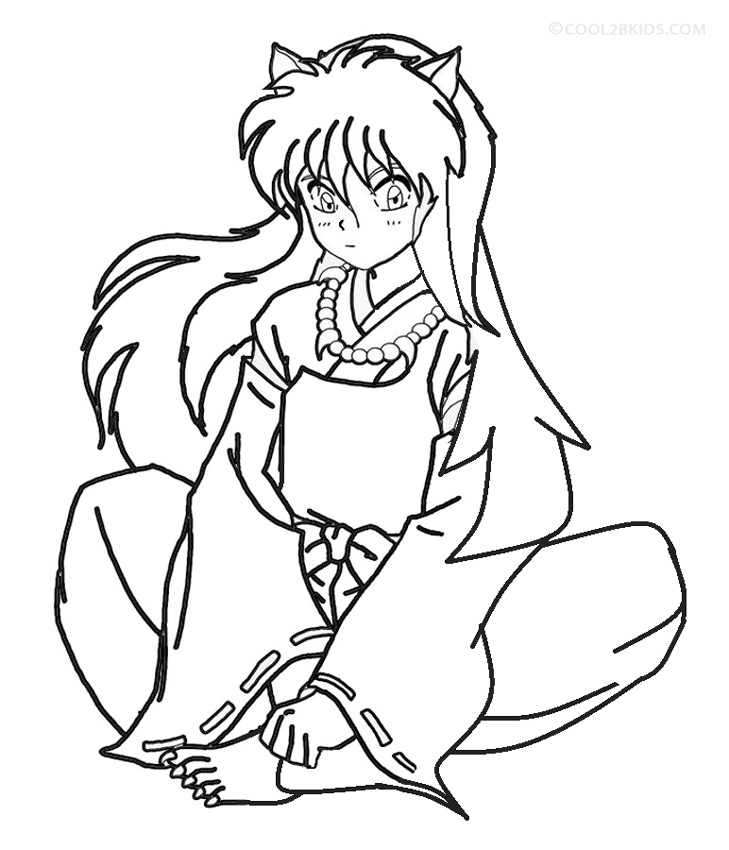 inuyasha coloring pages 11,printable,coloring pages