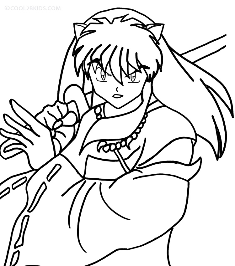 inuyasha coloring pages 12,printable,coloring pages
