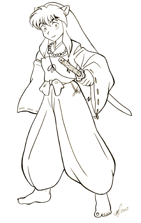 inuyasha coloring pages 13,printable,coloring pages
