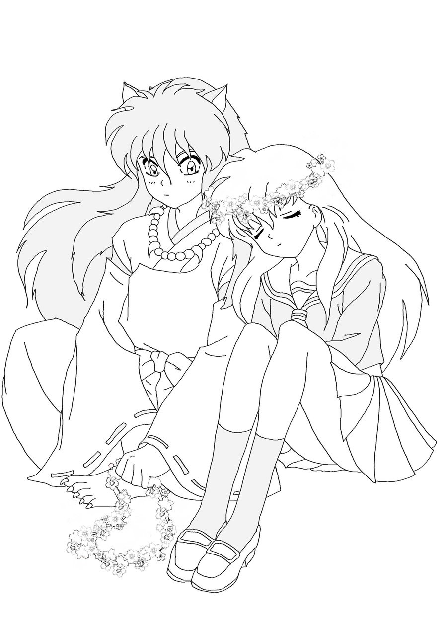 inuyasha coloring pages printable,printable,coloring pages