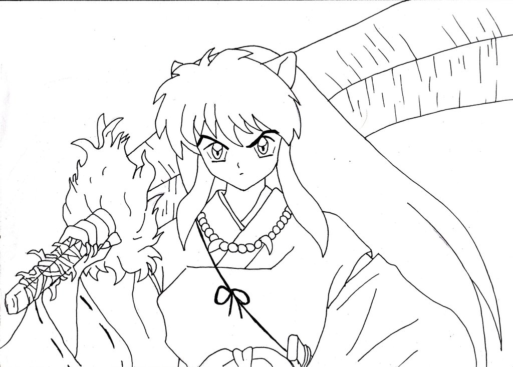 kids coloring pages inuyasha,printable,coloring pages