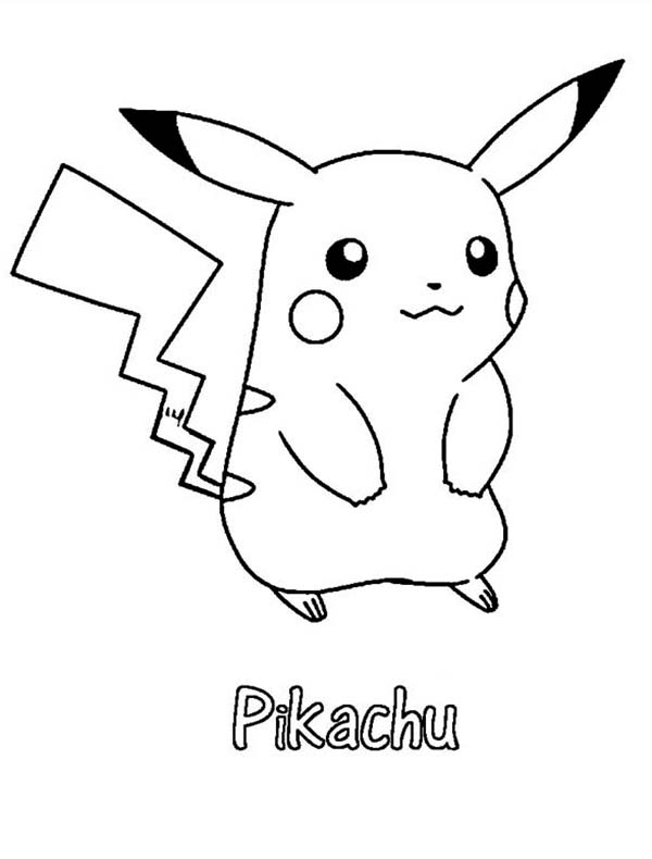 13 printable pikachu coloring pages print color craft for Pikachu coloring page