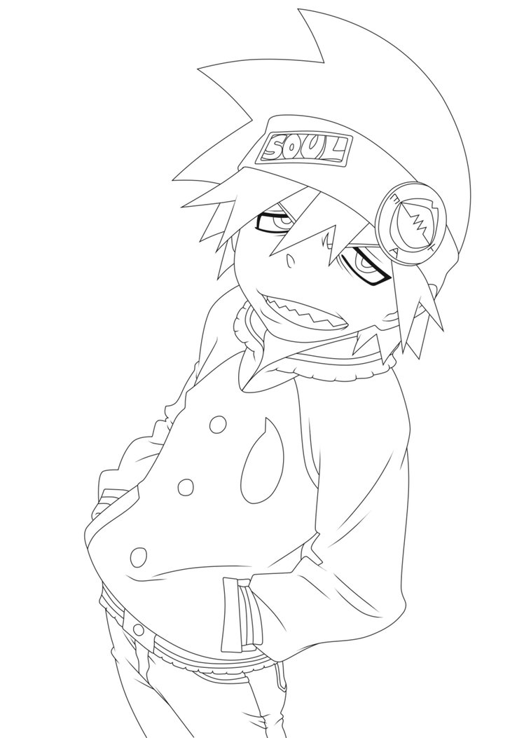 6 kids coloring pages soul eater