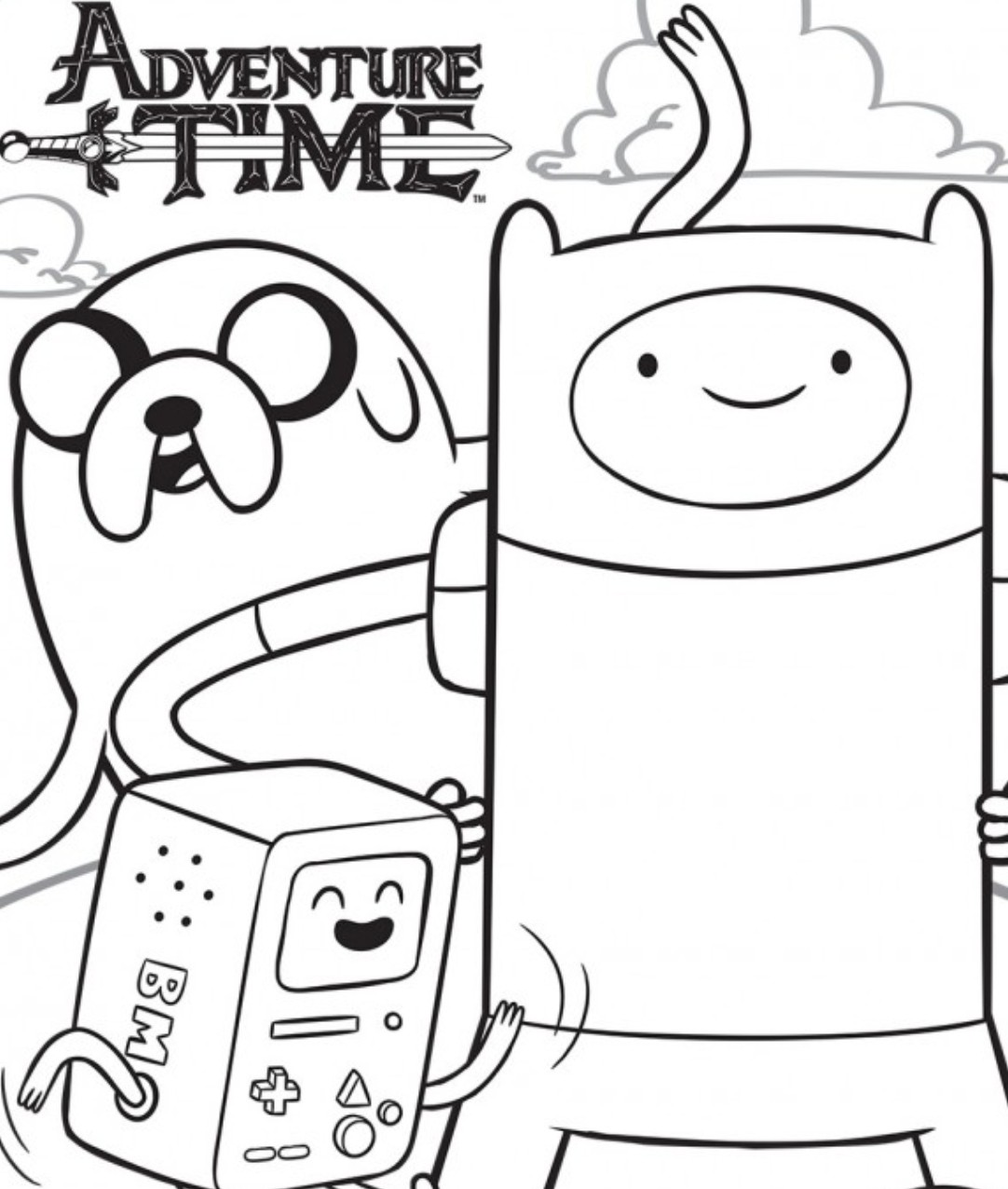 adventure-time coloring page,printable,coloring pages