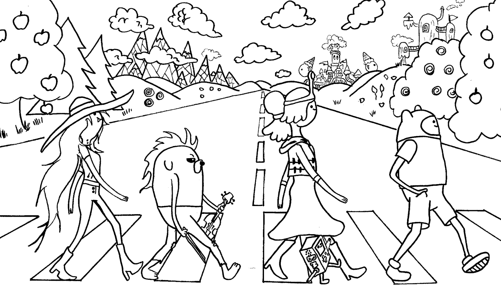 kids coloring pages adventure-time,printable,coloring pages
