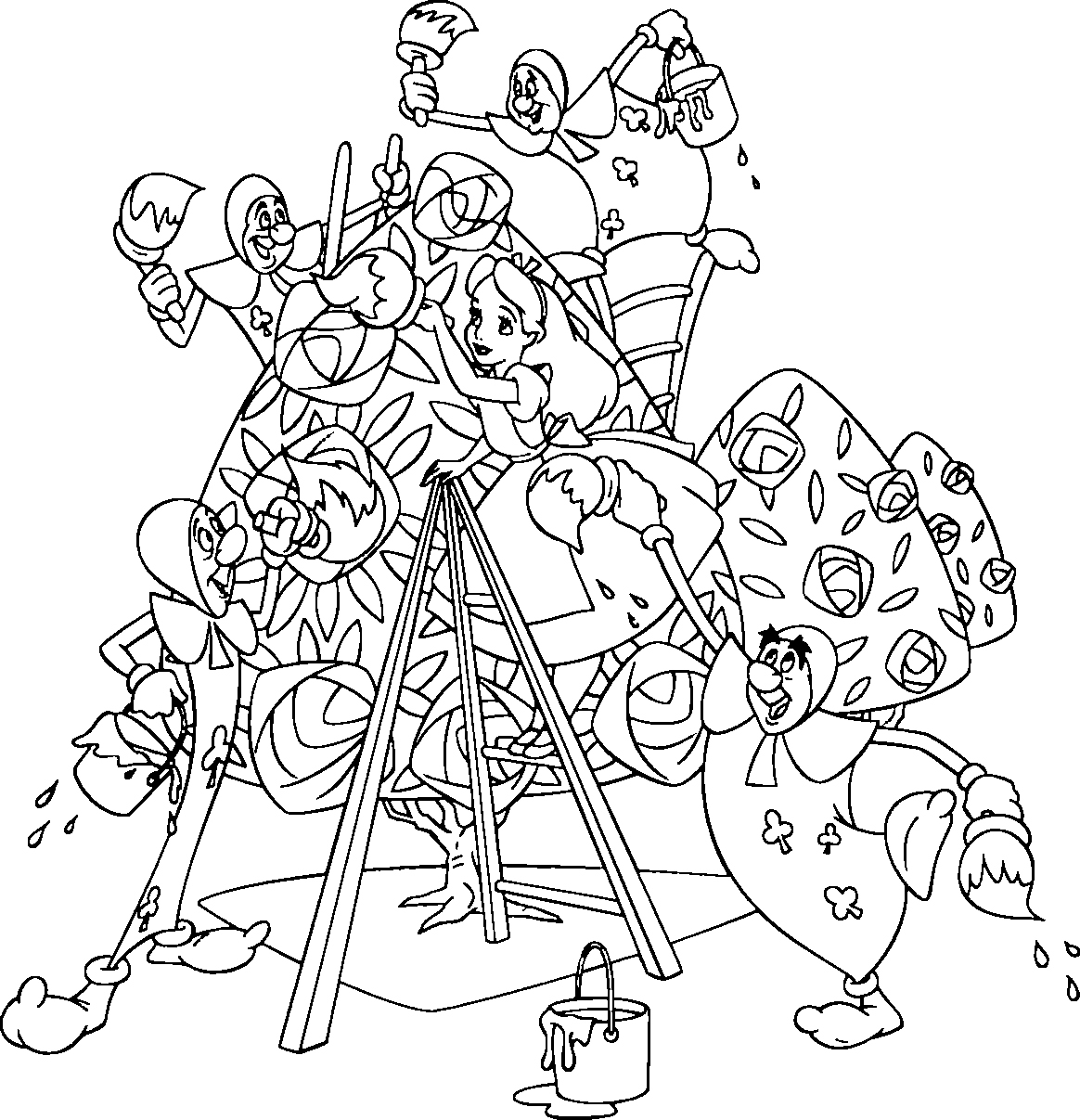 13 Coloring Pictures Alice In Wonderland Print Color Craft