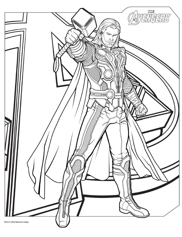 avengers coloring page,printable,coloring pages