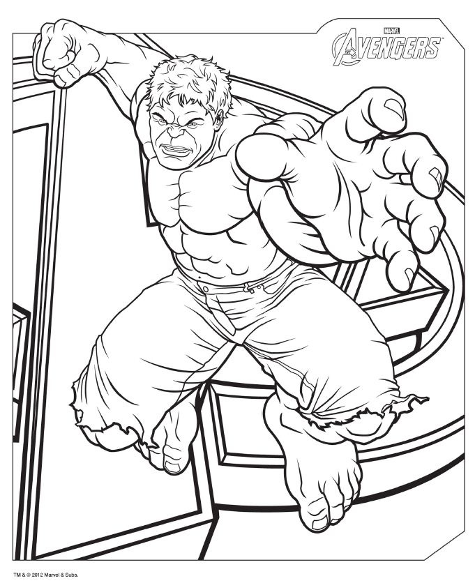 avengers coloring pages for kidsprintablecoloring pages