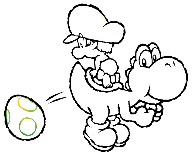 kids coloring pages baby-yoshi,printable,coloring pages