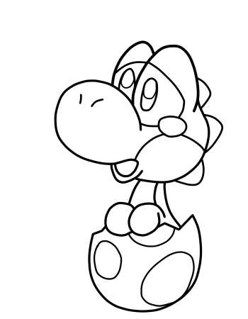 printable pictures of baby-yoshi page,printable,coloring pages