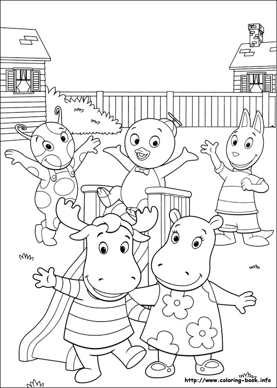 backyardigans coloring pagesprintablecoloring pages - Backyardigans Coloring Pages Print