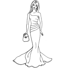 barbie coloring page to print,printable,coloring pages