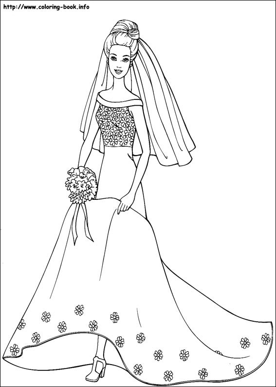 Barbie Coloring Pagesprintablecoloring Pages