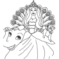15 printable barbie coloring pages