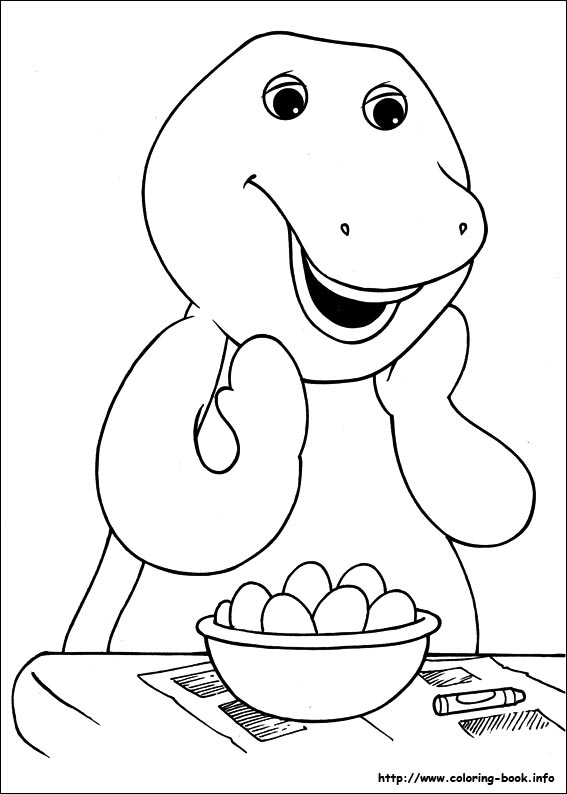 barney online coloring pages - photo#29
