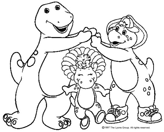 coloring pages of barney,printable,coloring pages