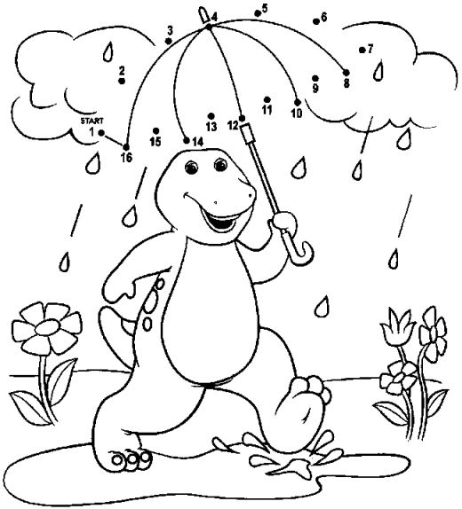 14 printable barney coloring pages print color craft