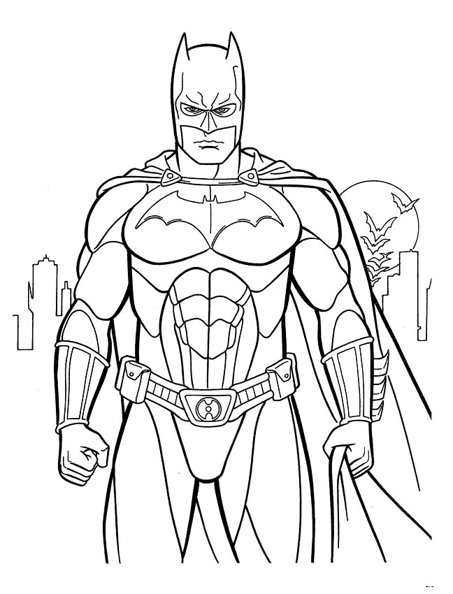 Coloring Pages For Batman : Evil fighter batman coloring pages 34 pictures crafts and cakes for kids Print Color Craft