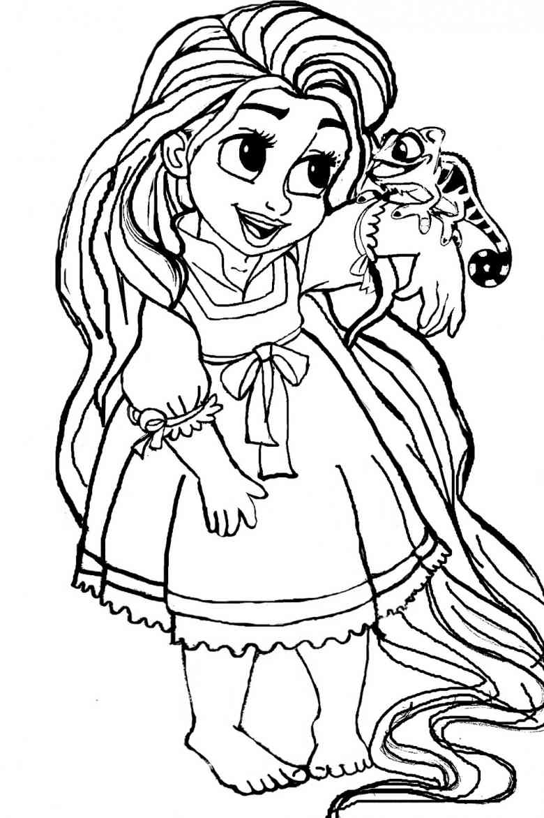 13 beautiful rapunzel coloring page to print
