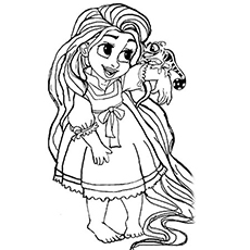 13 beautiful rapunzel coloring page to print Print Color