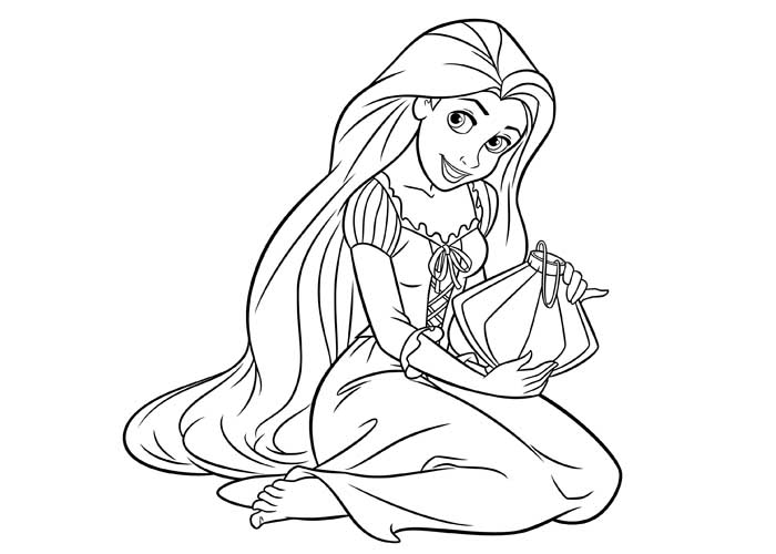 beautiful-rapunzel coloring pages for kids,printable,coloring pages