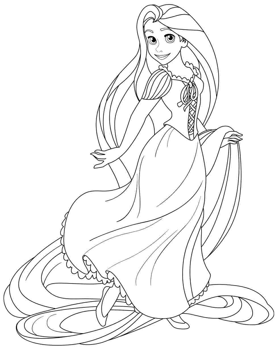 printable beautiful-rapunzel coloring pages,printable,coloring pages