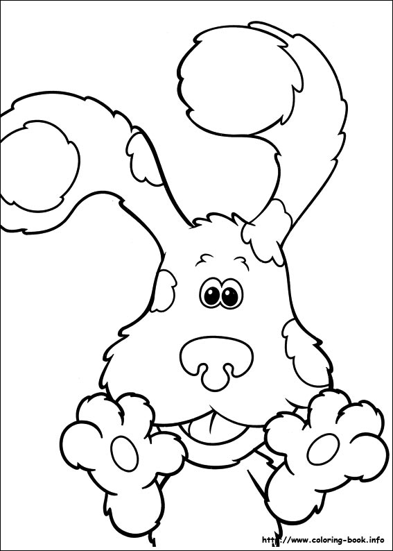 blues-clues coloring pages 11,printable,coloring pages
