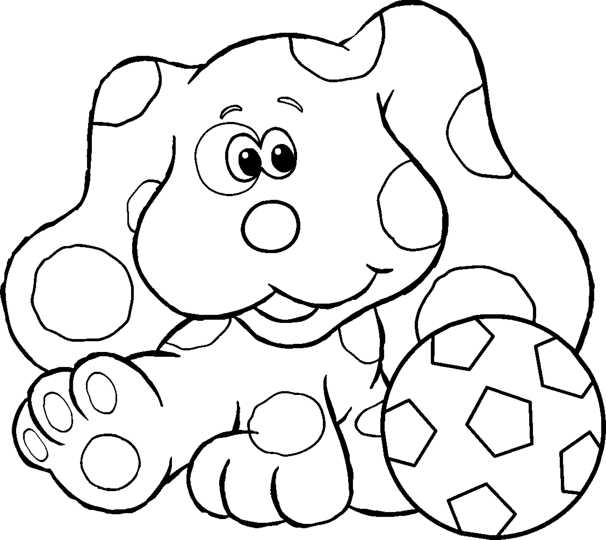 Blues Clues Paw Print Coloring Page