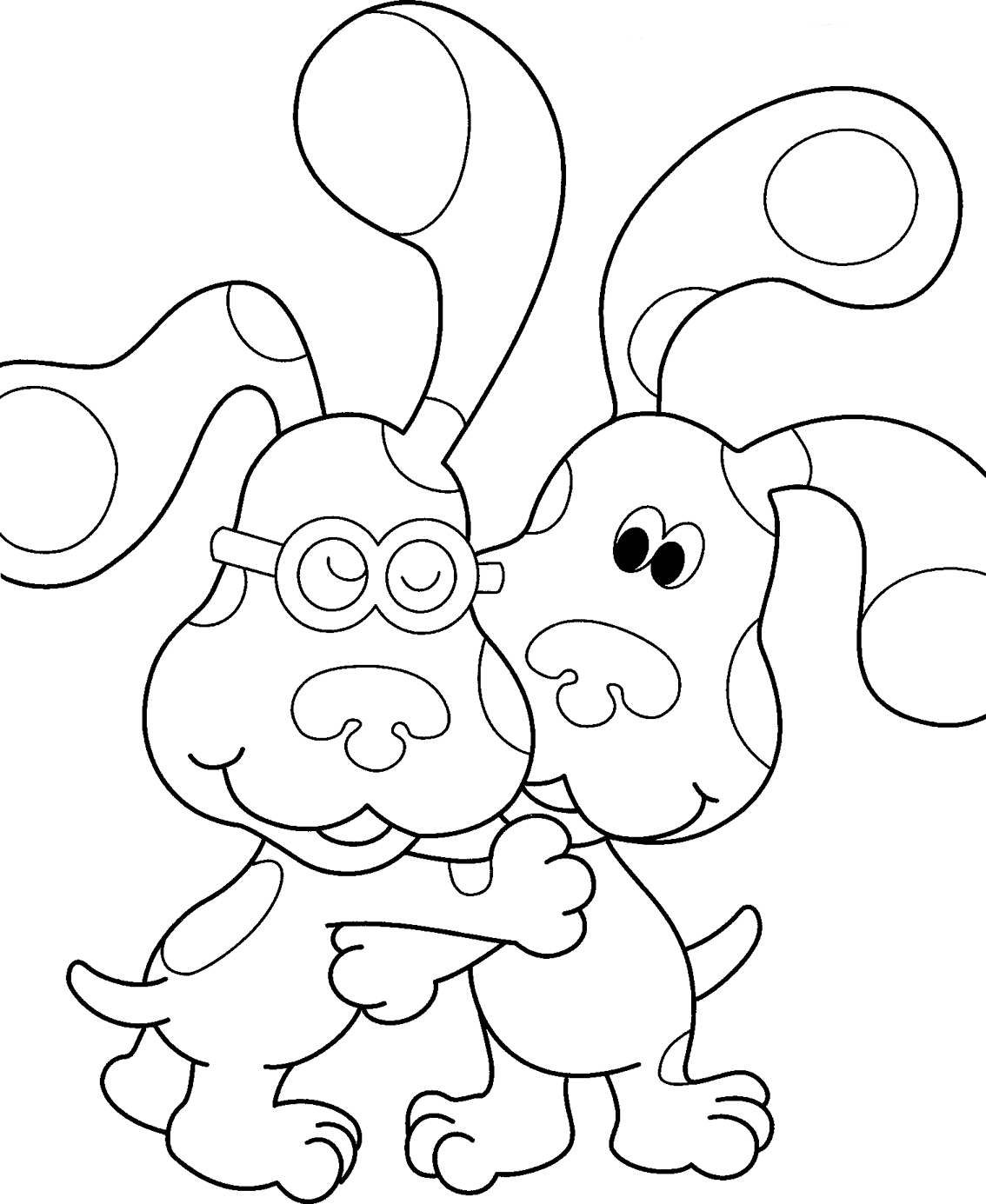 coloring pages of blues-clues,printable,coloring pages
