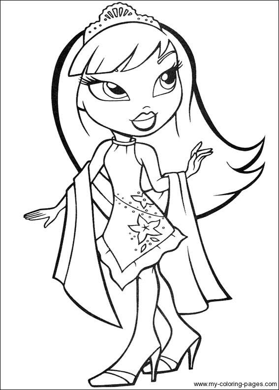 bratz coloring pages for kids,printable,coloring pages