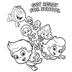 kids coloring pages bubble-guppies,printable,coloring pages