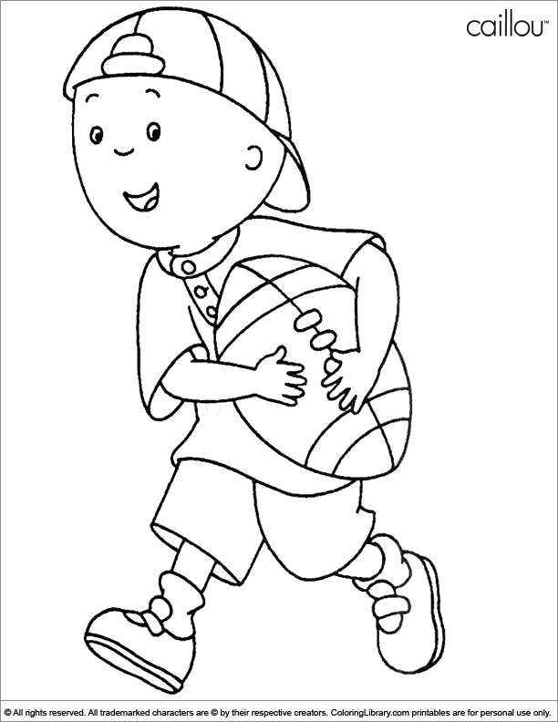 caillou coloring pages for kids,printable,coloring pages