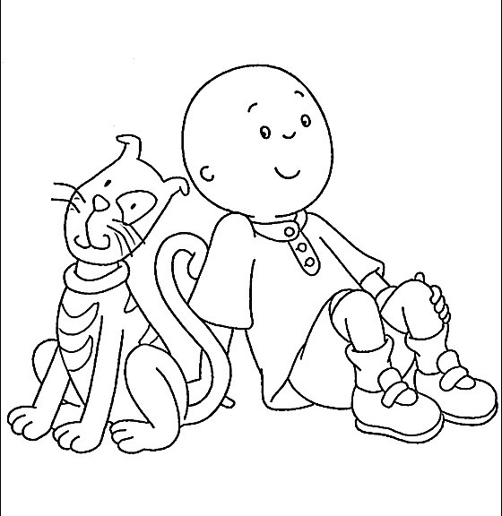 12 Coloring Pages Of Caillou Print Color Craft Caillou Coloring Page