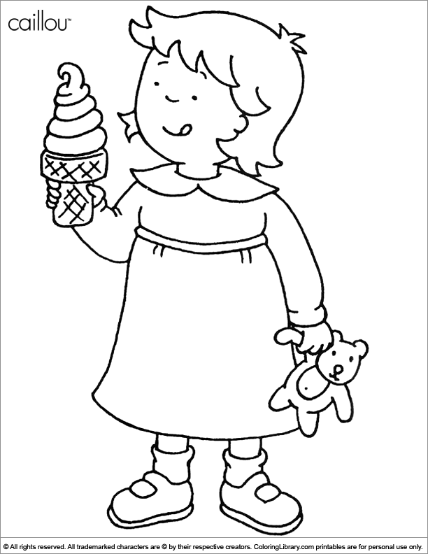 printable caillou coloring pagesprintablecoloring pages