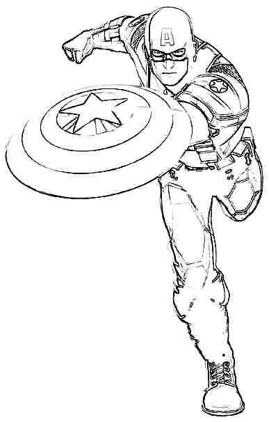 Captain america free colouring pages for Coloring pages captain america