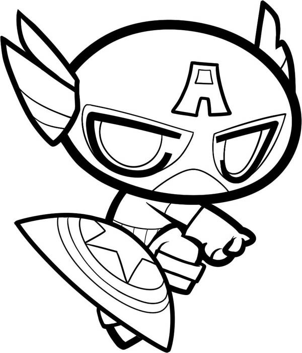 18 Printable Captain America Coloring Pages -Marvel ...