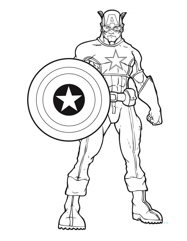 coloring pages of captain-america,printable,coloring pages