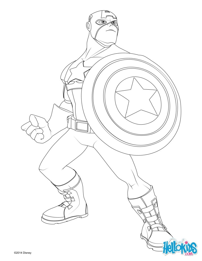 coloring pictures captain-america,printable,coloring pages