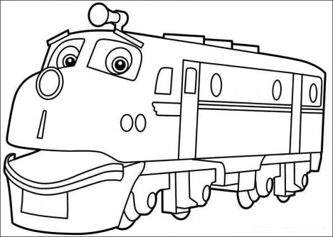 chuggington coloring pageprintablecoloring pages - Chuggington Wilson Coloring Pages